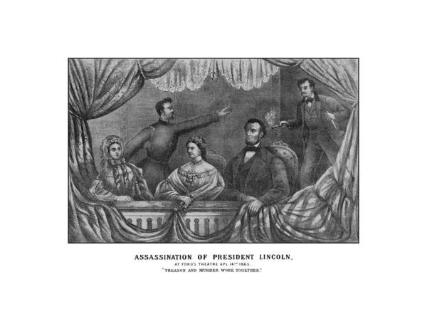 Abe Lincoln Poster featuring the drawing Assassination Of President Lincoln by War Is Hell Store