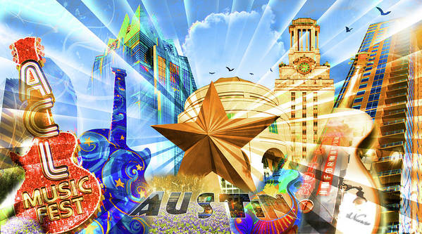 Montage Poster featuring the sculpture Atx Montage by Andrew Nourse