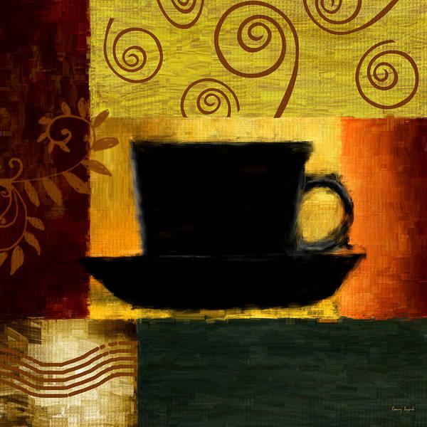 Coffee Poster featuring the digital art Awakening by Lourry Legarde