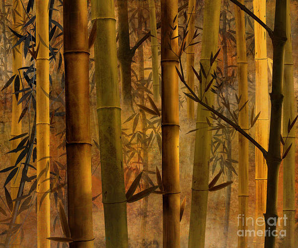 Bamboo Poster featuring the digital art Bamboo Heaven by Bedros Awak
