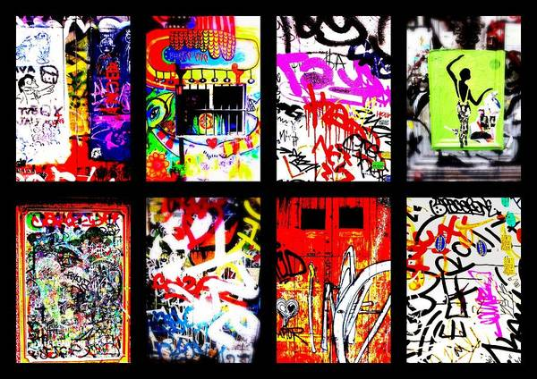 Barcelona Poster featuring the photograph Barcelona Doors ... All Graffiti by Funkpix Photo Hunter