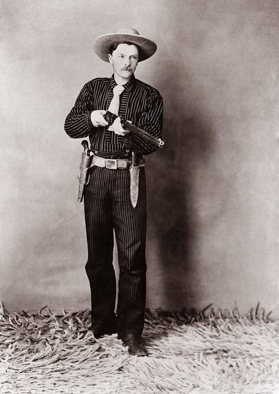 History Poster featuring the photograph Bill Bennett, Wild West Detective by Everett