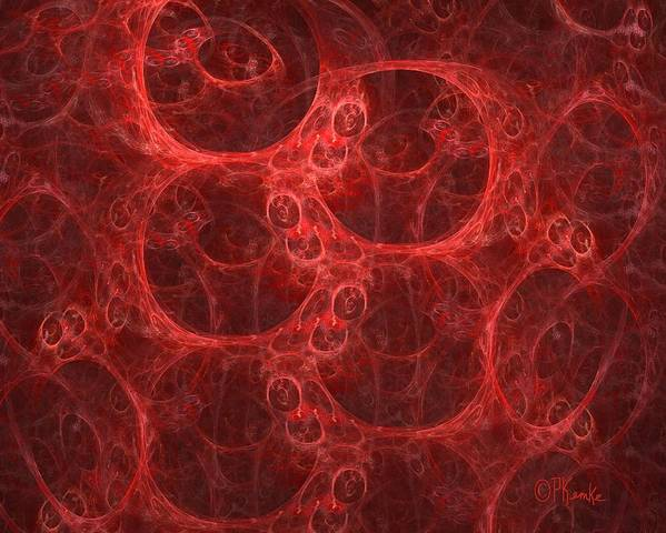 Digital Poster featuring the digital art Blood Cells by Patricia Kemke
