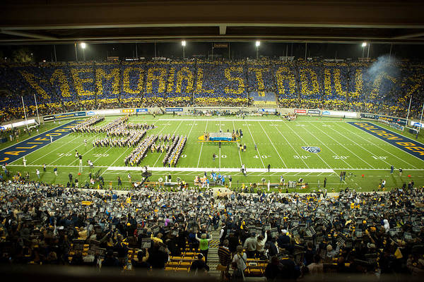 California Poster featuring the photograph Cal Memorial Stadium On Game Day by Replay Photos