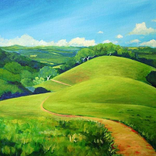 Landscape Poster featuring the painting Canada Del Oro Ridge by Stephanie Maclean
