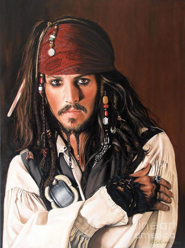Captain Jack Sparrow Poster by Caroline Collinson