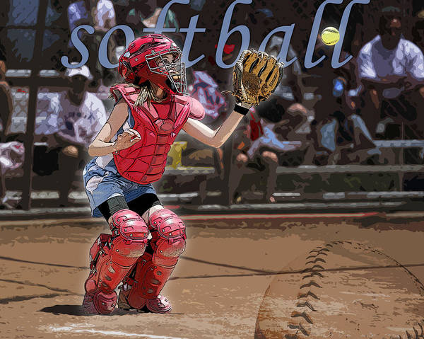 Softball Poster featuring the photograph Catch It by Kelley King