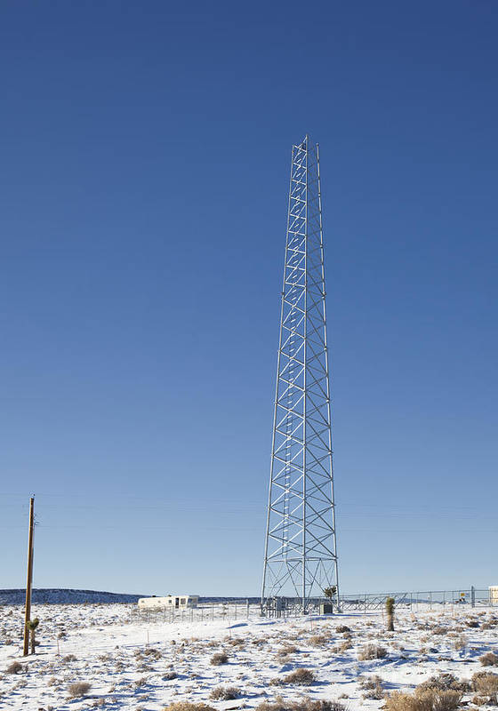 Cellphones Poster featuring the photograph Cellphone Tower by David Buffington
