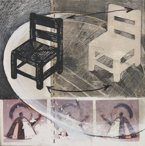 Chair Poster featuring the mixed media Chair Xi by Peter Allan