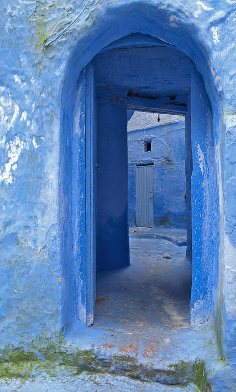 Chefchaouen Poster featuring the photograph Chefchaouen 2 by Kenton Smith