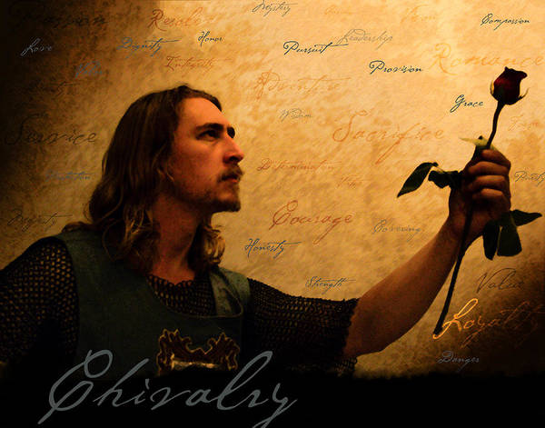 Chivalry Poster featuring the painting Chivalry Reborn by Christopher Gaston