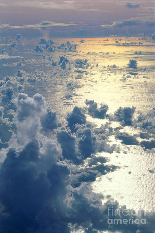 A35g Poster featuring the photograph Clouds Over Ocean by Ed Robinson - Printscapes