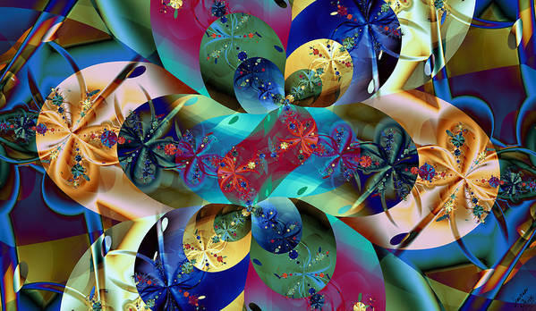 Color Poster featuring the digital art Colburst by Lauren Goia