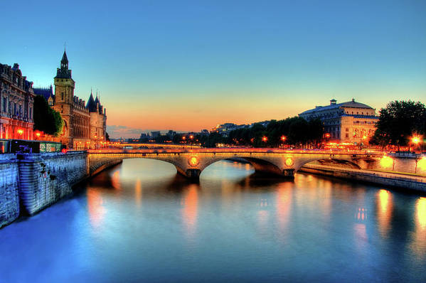 Horizontal Poster featuring the photograph Connecting Bridge by Romain Villa Photographe