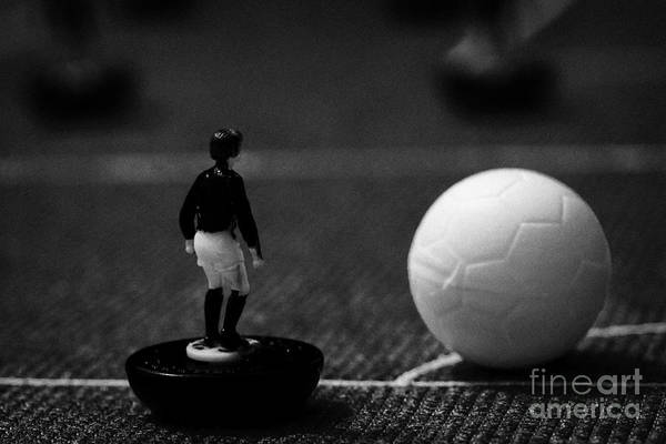 Corner Kick Football Soccer Scene Reinacted With Subbuteo Table Top Football Players Game Poster by Joe Fox