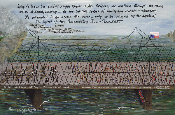 New Orleans Poster featuring the painting Crescent City Dis-connect by Beverly Kimble Davis