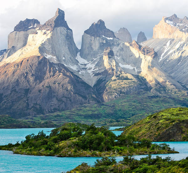 Torres Del Paine Poster featuring the photograph Cuernos Del Paine - Patagonia by Carl Amoth