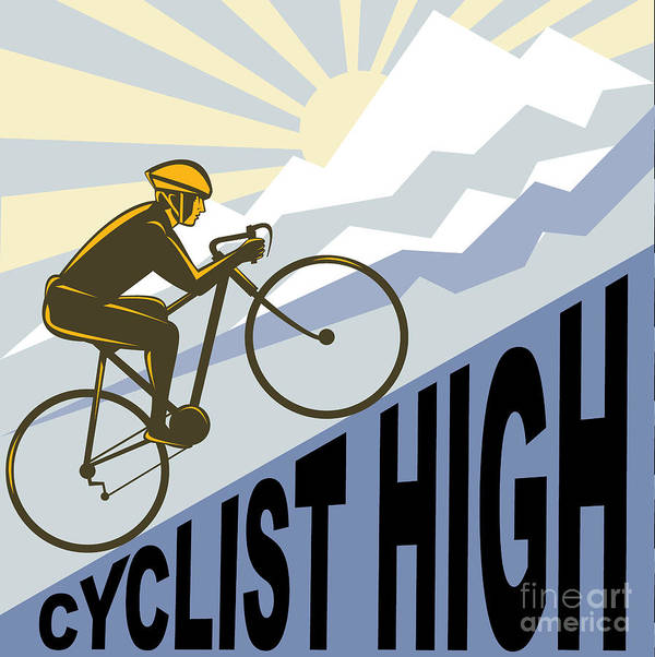 Cyclist Poster featuring the digital art Cyclist Racing Bike by Aloysius Patrimonio
