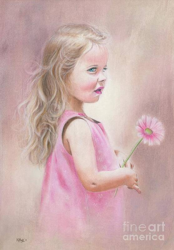 Karen Hull Poster featuring the drawing Daisy by Karen Hull