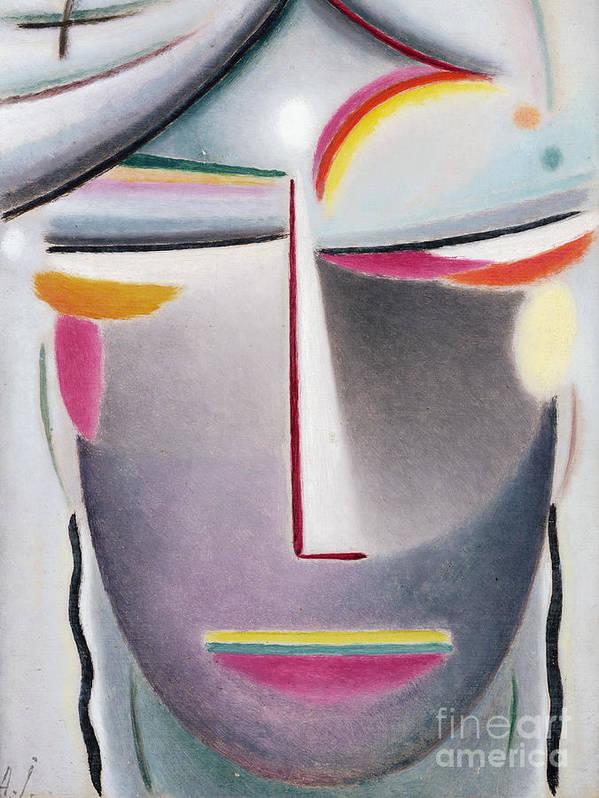 Head (dark Buddha) Poster featuring the painting Dark Buddha by Alexej von Jawlensky
