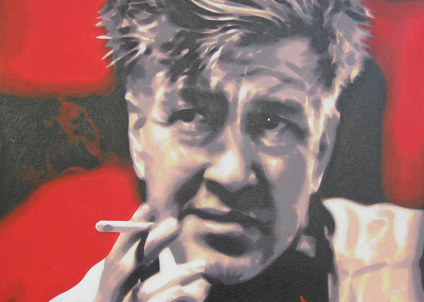 Laura Palmer Poster featuring the painting David Lynch by Luis Ludzska