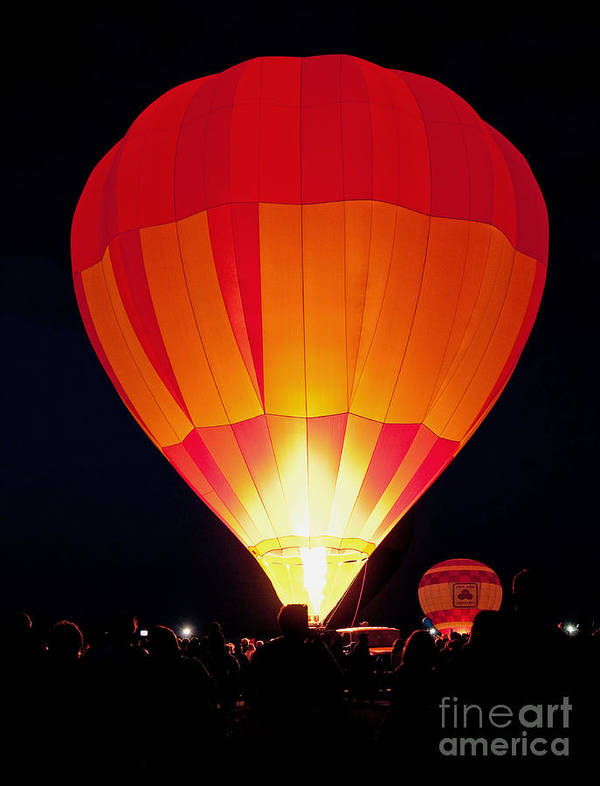 Pursuit Poster featuring the photograph Dawn Patrol Balloon Fiesta by Jim Chamberlain