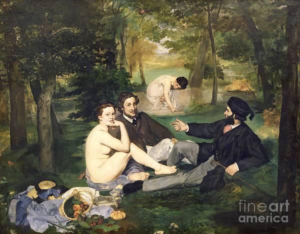 Dejeuner Poster featuring the painting Dejeuner Sur L Herbe by Edouard Manet