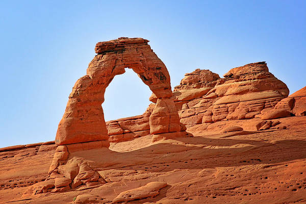 Landscape Poster featuring the photograph Delicate Arch The Arches National Park Utah by Christine Till