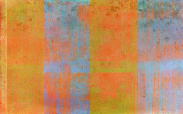 Orange Poster featuring the painting Desert Mirage by Julie Niemela