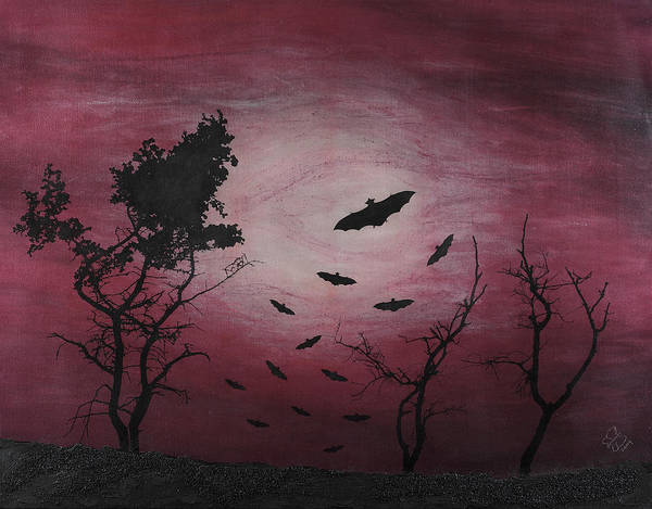 Landscape Poster featuring the mixed media Desolate by Arnuda