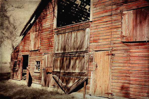 Barn Poster featuring the photograph Doors Open by Julie Hamilton