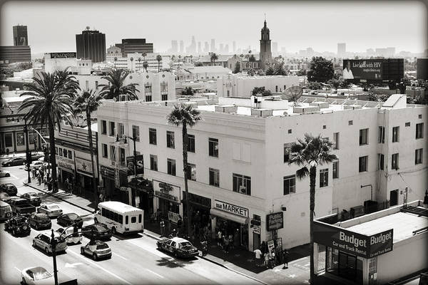 Hollywood Poster featuring the photograph Downtown In The Distance by Ricky Barnard