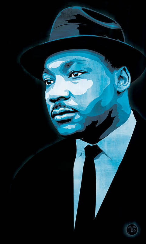 Martin Luther King Jr Poster featuring the digital art Dream by Jeff Nichol