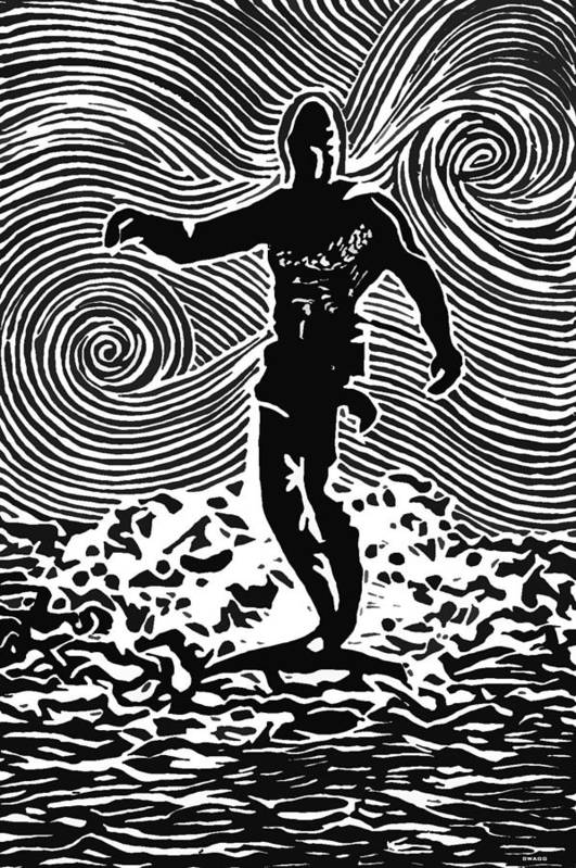 Surf Art Poster featuring the painting Duke by Stephanie Troxell