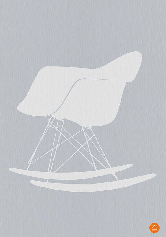 Eames Poster featuring the photograph Eames Rocking Chair by Naxart Studio