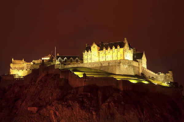 Abbey Poster featuring the photograph Edinburgh Castle by Svetlana Sewell