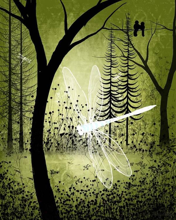 Landscape Poster featuring the digital art Enchanted by Charlene Zatloukal