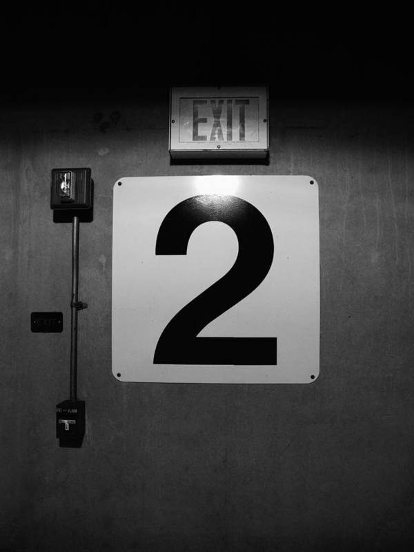 Door Poster featuring the photograph Exit Two by Bob Orsillo