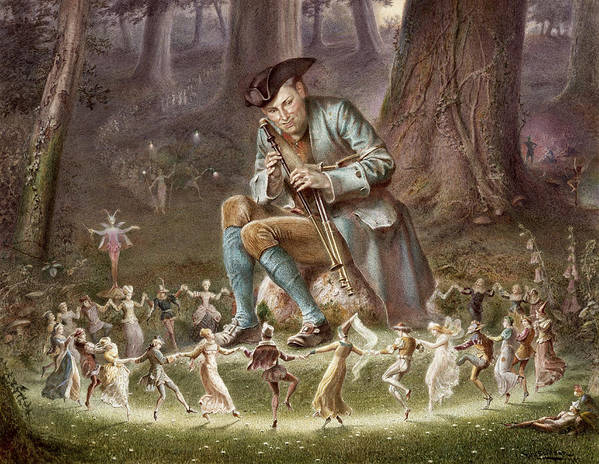 Gg64982 Poster featuring the photograph Fairy Dance by William Holmes Sullivan