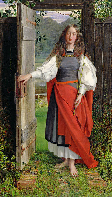 Female Poster featuring the painting Faith by George Dunlop Leslie