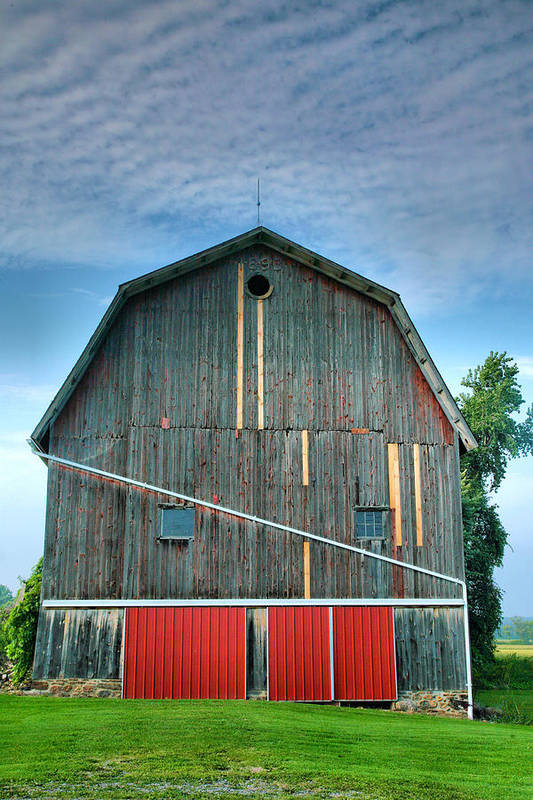 Architecture Poster featuring the photograph Finger Lakes Barn Iv by Steven Ainsworth