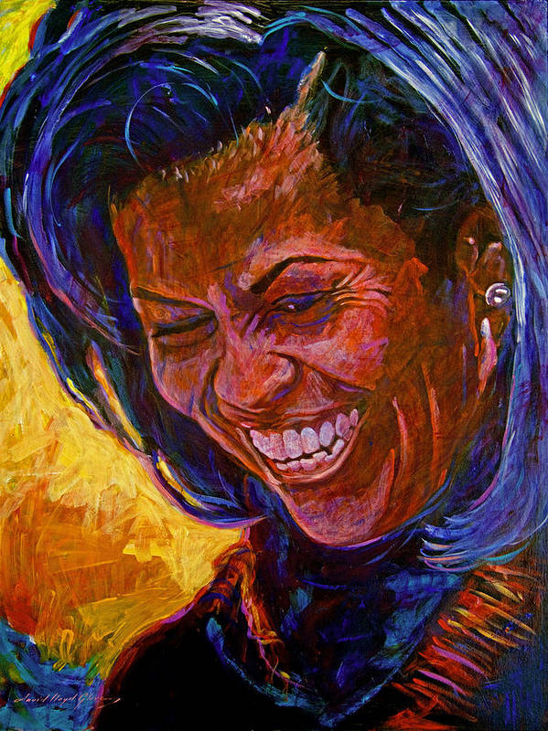 Michele Obama Artwork Poster featuring the painting First Lady Michele Obama by David Lloyd Glover