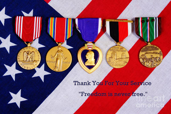 Hero Poster featuring the photograph Freedom Is Never Free by James BO Insogna