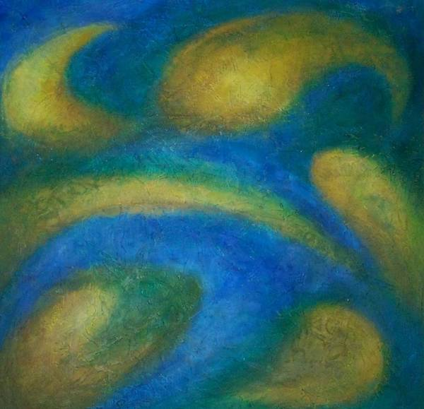 Abstract Poster featuring the painting Galaxia by Anita Burgermeister
