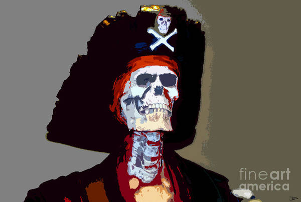 Gasparilla Pirate Festival Poster featuring the painting Gasparilla Work Number 5 by David Lee Thompson
