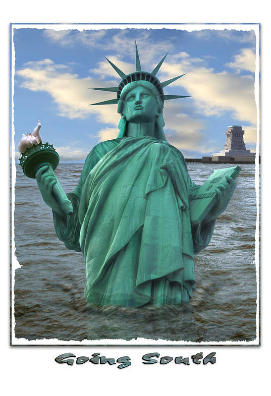 Surrealism Poster featuring the photograph Going South by Mike McGlothlen