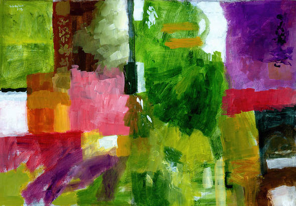 Abstract Poster featuring the painting Good Company by Douglas Simonson
