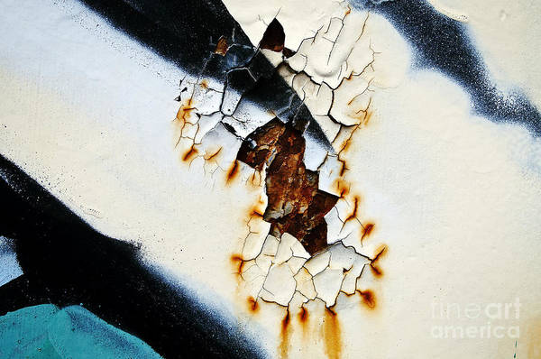 Abstract Poster featuring the photograph Graffiti Texture II by Ray Laskowitz - Printscapes