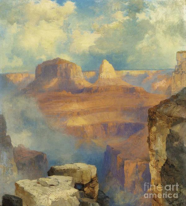 Thomas Moran Poster featuring the painting Grand Canyon by Thomas Moran