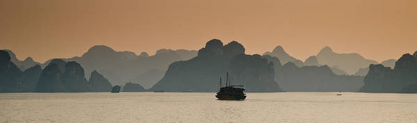Landscape Poster featuring the photograph Halong Bay by Peter Verdnik
